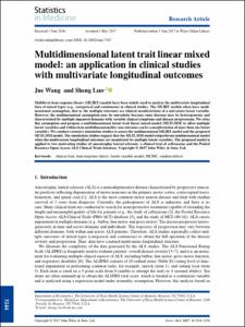 Multidimensional latent trait linear mixed model: an