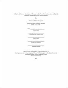 patrick modiano dissertation