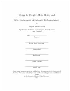 Design for Coupled-Mode Flutter and Non-Synchronous
